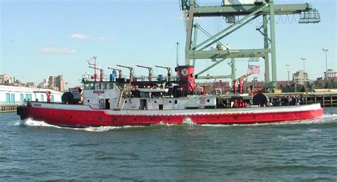 fireboat on fire photo via tug44 org