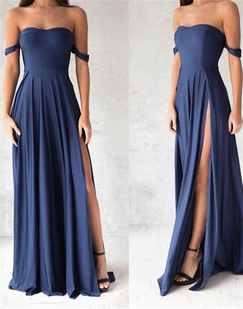 Simple Blue Dress simple blue prom dress blue evening dress for