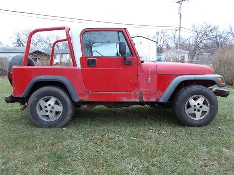 jeep hardtop 1994 jeep wrangler yj half hardtop 2 5 amc 5 speed