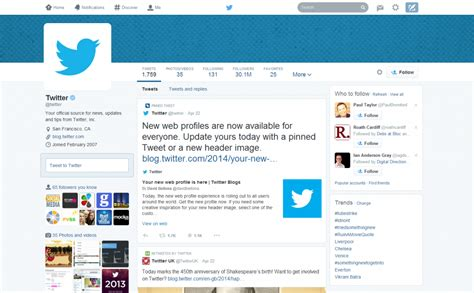 twitter new layout what twitter s new layout means for your business