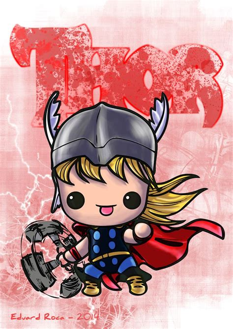 imagenes de terror kawai thor kawaii cute avengers nikochancomics dise 241 os