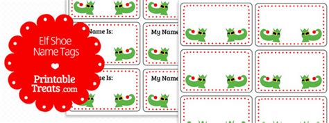 free printable elf name tags elf shoe name tags printable treats com
