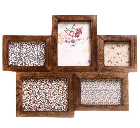 Large Multi Frames Photo Picture Shabby Wooden Chic Dark White Wooden Photo Frames Shabby Chic
