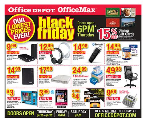 black friday 2014 office depot officemax ad scan buyvia