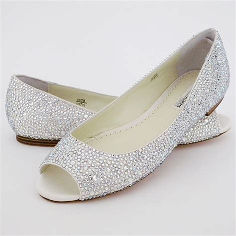 Silver Flat Wedding Shoes by Bridal Shoes Low Heel 2014 Uk Wedges Flats Designer Photos