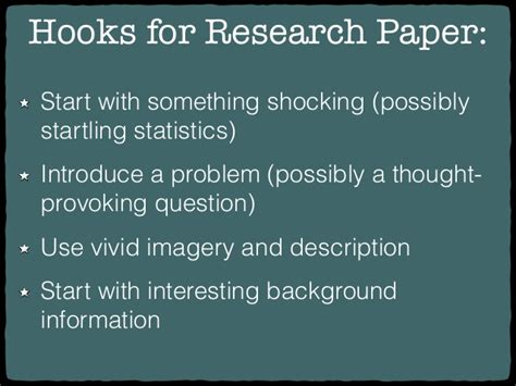 what is a hook for a research paper research paper hooks