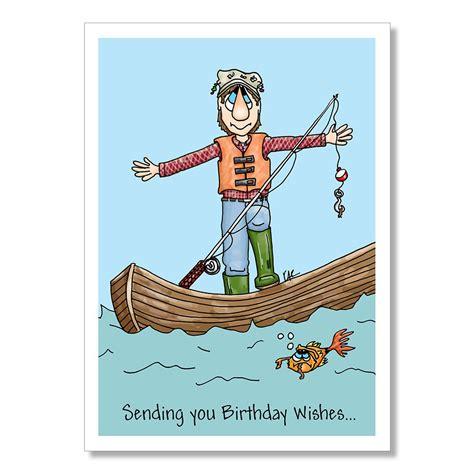 Happy Birthday Card Fishing
