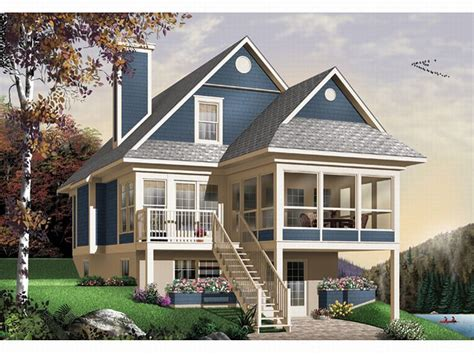 sloped lot house plans plan 027h 0141 find unique house plans home plans and