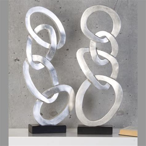 design skulptur quot unique circle quot deko objekt figur silber - Objekt Kaufen
