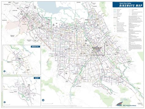 san jose trails map santa clara county bikeways vta maplets