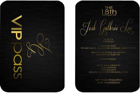 Vip Pass Invitation Template id vip pass b josh 18