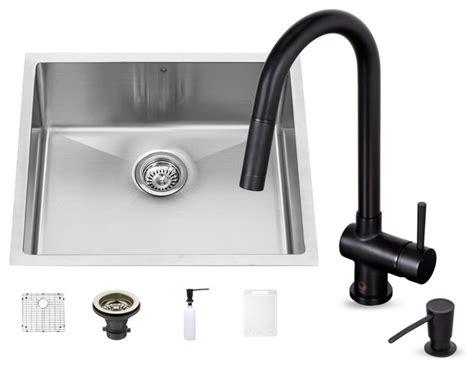 black undermount kitchen sink vigo industries vigo 23 quot undermount single bowl kitchen
