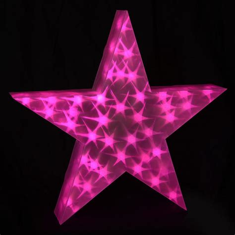 holographic led star light up 50cm christmas decoration