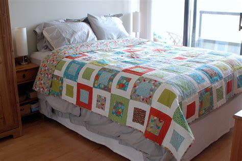 Quilt On Bed by Made With Handmade Bed Quilt Us210