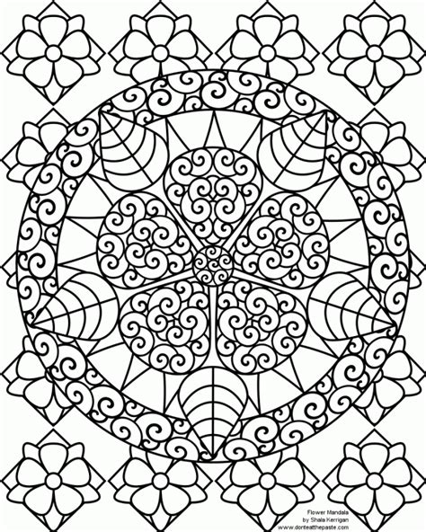 hard flower coloring pages coloring pages teenagers coloring home