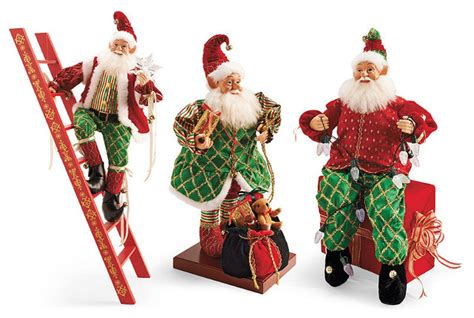 set of three pixie elves frontgate outdoor christmas decorations set of three animated elves frontgate decorations traditional