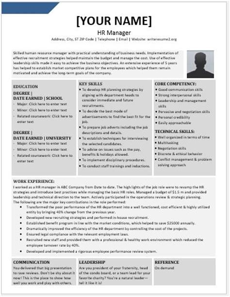 Hr Manager Resume by Human Resource Manager Resume Contents Layouts