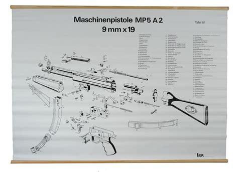 mp5 diagram mp5 schematic heckler koch sub machine guns mp5 parts