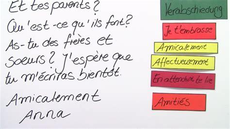 Offizieller Brief Auf Französisch Briefe Und E Mails Schreiben Franz 246 Sisch Lernen