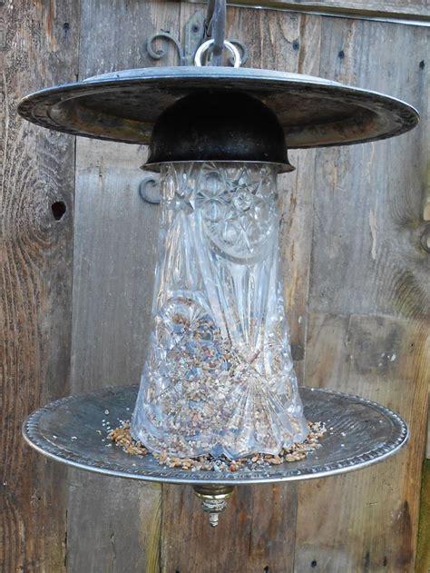 Ornate Bird Feeders Bird Feeder Upcycled Silver Plate