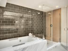 Modern Subway Tile Bathroom Designs Modern Master Bathroom Contemporary Bathroom Other
