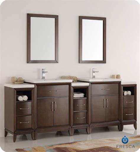 fresca cambridge 84 inch modern bathroom vanity