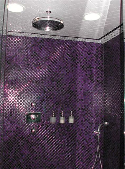 Badezimmer Fliesen Lila by 40 Purple Bathroom Tile Ideas And Pictures