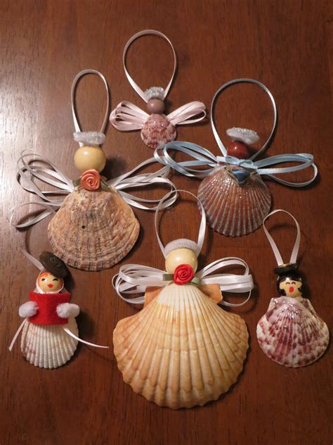 festive seashell caroler and angel ornaments 171 beach