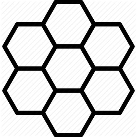pattern icon png cells comb hexagon hexagonal honey honeycomb pattern