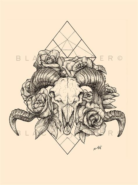 ram skull tattoo meaning geometric ram skull tattooviral