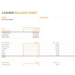 free sle daily excel cashier balance sheet template