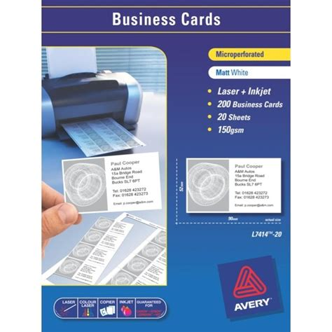 business card template avery l7414 avery business card template laser printer best business