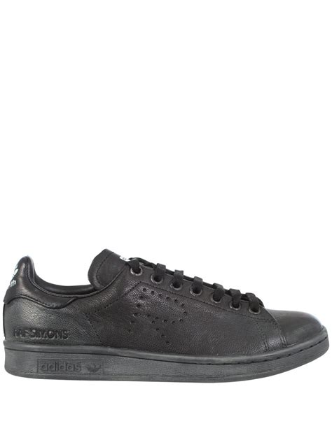 raf simons adidas stan smith sneakers aged black in black for lyst