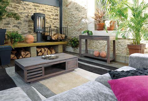 canapé bois exotique davaus salon gris et bois avec des id 233 es
