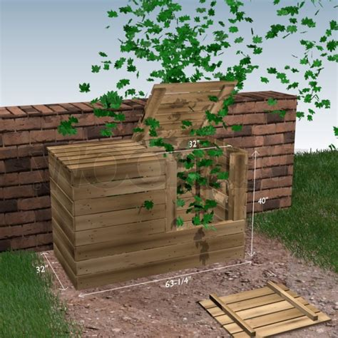 compost bin woodself  plans  woodworking