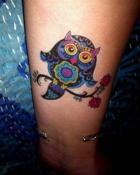 owl tattoo temporary colorful owl temporary tattoo body art