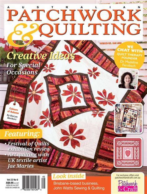 Patchwork Quilting Magazine Australia - australian crafts magazine