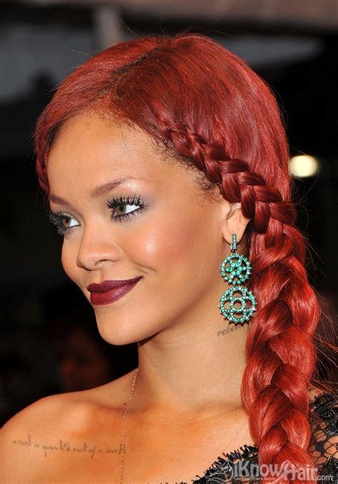 braided hairstyles red hair rihanna rihanna red hair rihanna short hair styles