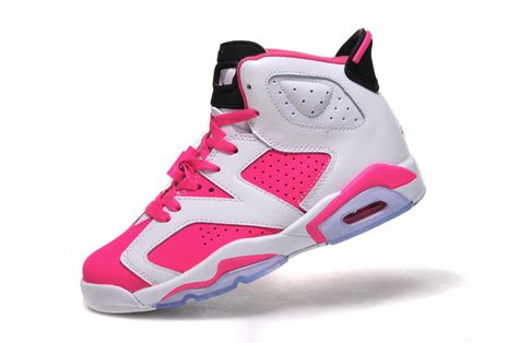 air 6 gs white pink shoes for sale retro shoes