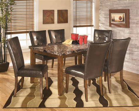 lacey medium brown  pc rectangular dining room table
