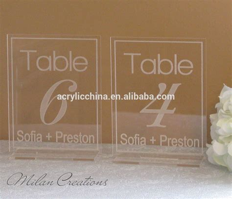 restaurant table number stands acrylic table number stands for restaurant clear acrylic