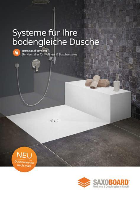 Dusche Ohne Duschwanne by Bodengleiche Duschen Duschtassen Saxoboard Net