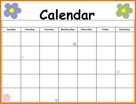 Blank Calendars To Print Blank Calendars To Print Related Keywords Suggestions