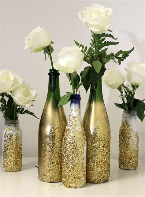 diy glitter vase for nye petal talk