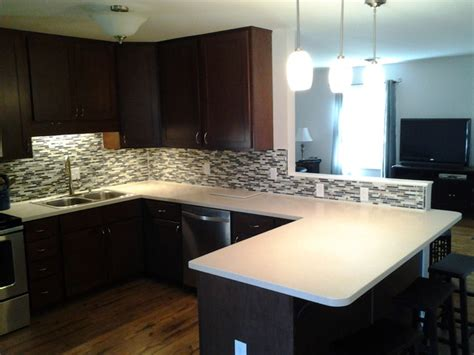 Modern Tile Countertops by Solid Surface Living Tile Ready Splash Modern