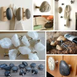 how to make unique rock cabinet knobs for kitchen