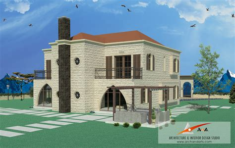 Traditional Lebanese Villa in the Zaarour. ? Arch & arts