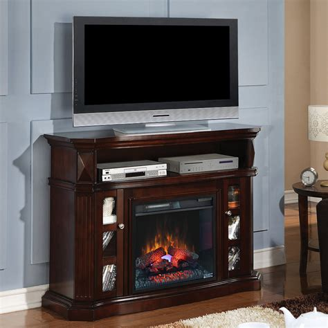 electric fireplace media console bellemeade electric fireplace media console in espresso