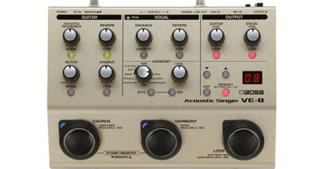 Harga Ve 8 Acoustic Singer jual ve 8 acoustic singer multi effects pedal