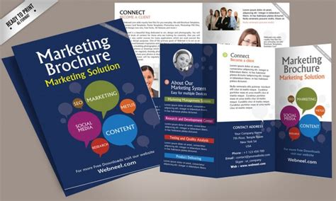 marketing brochure templates free 15 free corporate bifold